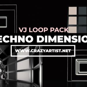 El VJ Pack Techno Dimension es un pack de visuales diseñado para acompañar sets de música techno y electrónica, puedes descargarlo y utilizarlo para tu próximo proyecto de dj set o vj set