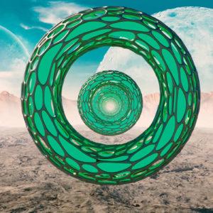 VJ Loop ETERNAL 2.0 descarga el visual destacado por un paisaje inhóspito en un entorno perdido de otra galaxia